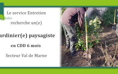 Carré Vert Jardins recrute un(e) jardinier paysagiste