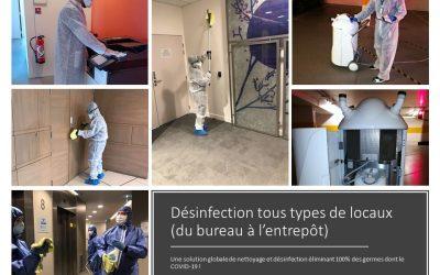 Services certifiés de désinfection des locaux