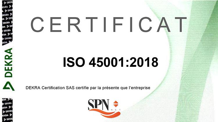 Certification Sécurité ISO45001